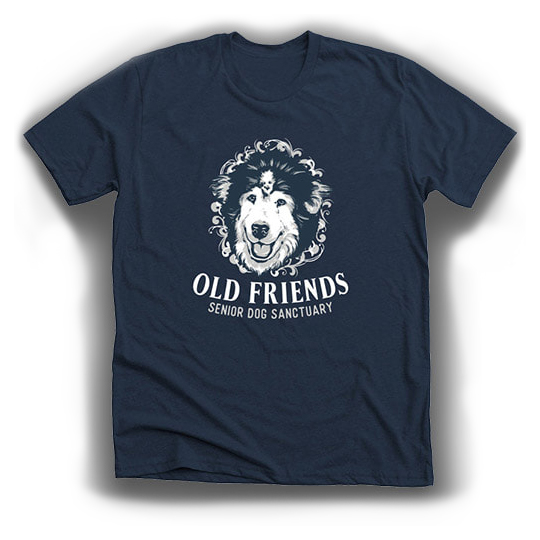 King Leo t-shirt-Old Friends Senior Dog Sanctuary