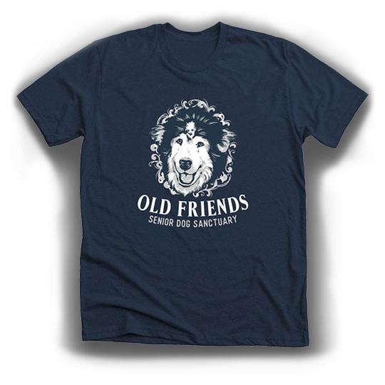 King Leo t-shirt-Old Friends Senior Dog Sanctuary